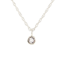 Kris Nations White Topaz Charm Necklace Silver N778-S-WHTPZ
