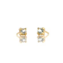 Kris Nations White Topaz Prong Set Studs Gold E669-G-WHTPZ