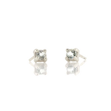 Kris Nations White Topaz Prong Set Studs Silver E669-S-WHTPZ