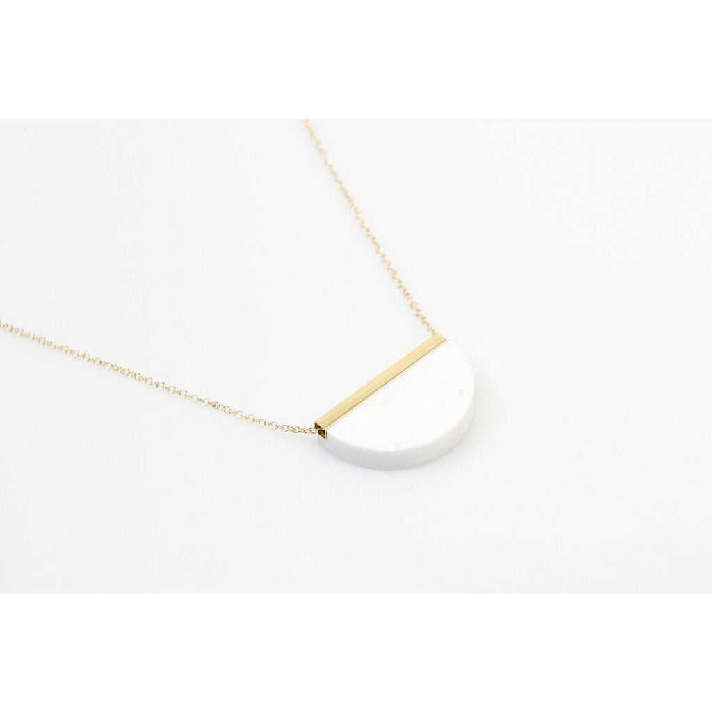 dconstruct Winter Corian Half Circle Necklace COR-N-HC-W-18