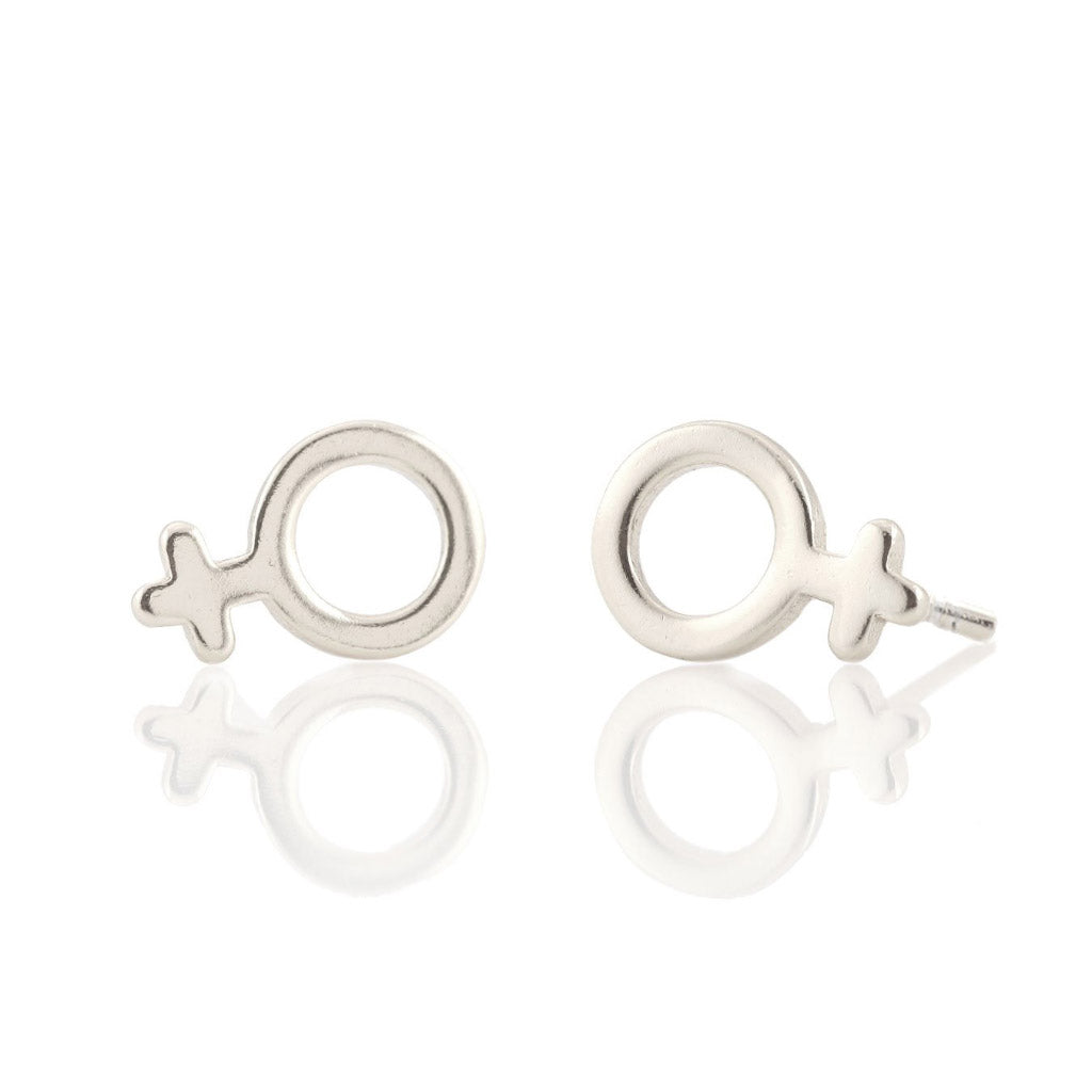 Kris Nations Woman Studs Silver E534-S