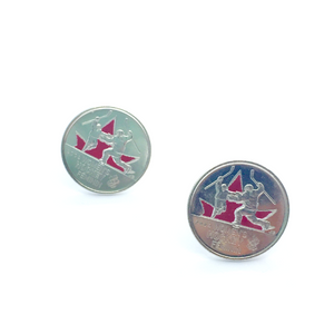 Cuff Stuff Women's Hockey Quarter Cufflinks CU0CH1