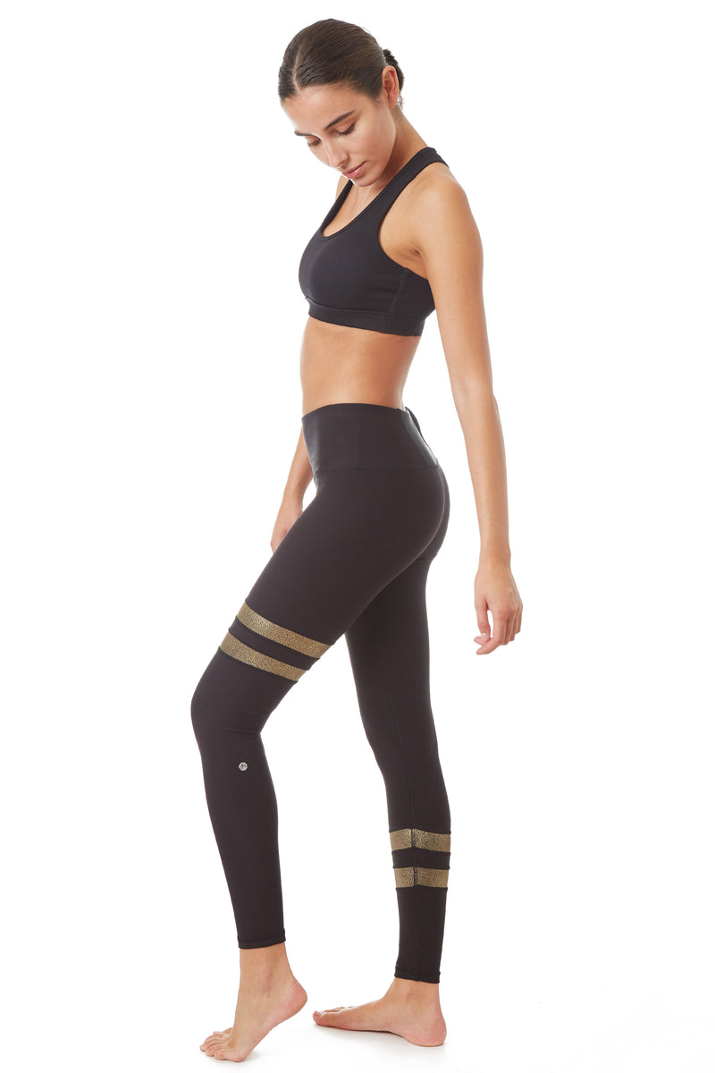 X By Gottex Metallic Stripe Legging