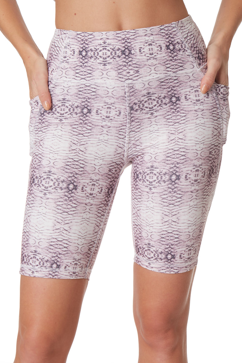 Printed Active Biker Shorts - Gottex Studio