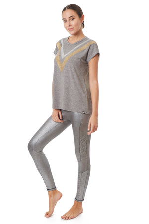 X By Gottex Metallic Moto Legging