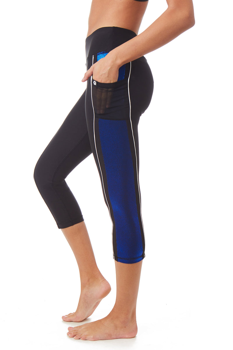 X By Gottex Double Line Color Block Capri