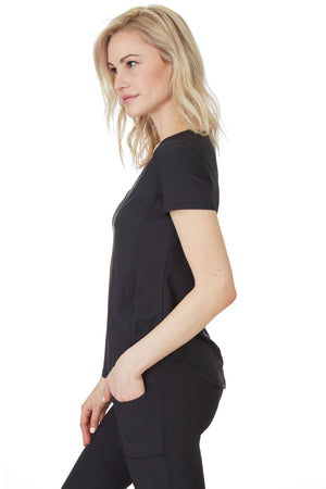 Gottex Studio Triangular Mesh Insert Sleeve Top - Gottex Studio