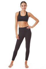 Gottex Studio High Waisted Rib Detail Sophie Ankle Legging - Gottex Studio