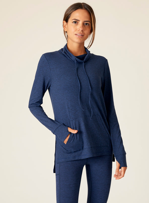Heather Funnel Neck Pull Over