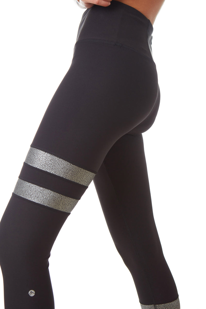 X By Gottex Metallic Stripe Legging - Gottex Studio