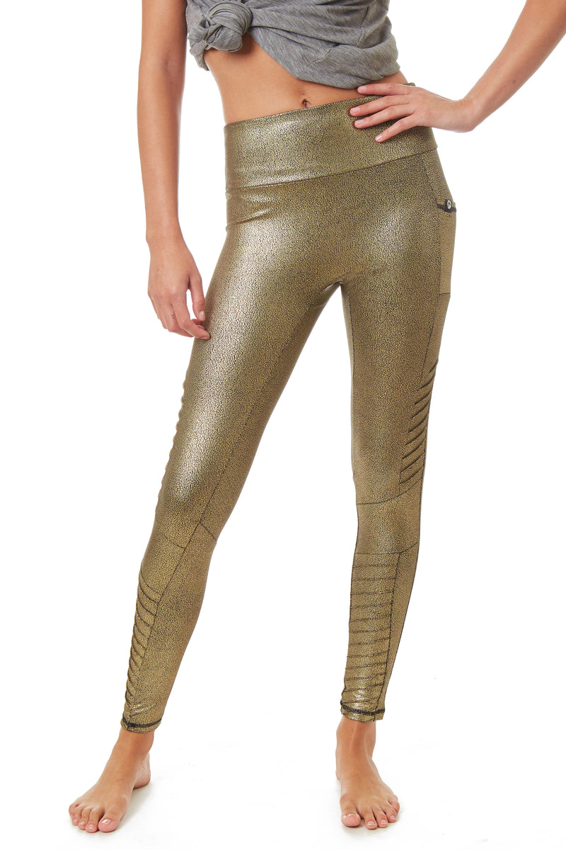 X By Gottex Metallic Moto Legging - Gottex Studio