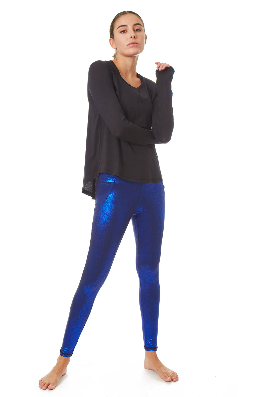 X By Gottex Metallic Champaign Legging