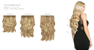 The Layered Halo® | 100% Remy Human Hair