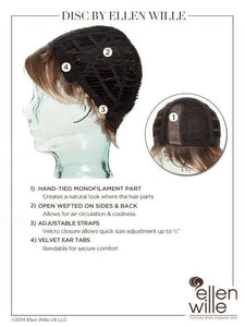 Disc | Synthetic Wig (Mono Part)