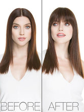 True | Human Hair/ Synthetic Blend Clip In Bangs (Mono Base)