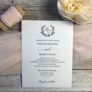 arturo paper letterpress wedding invitation close up