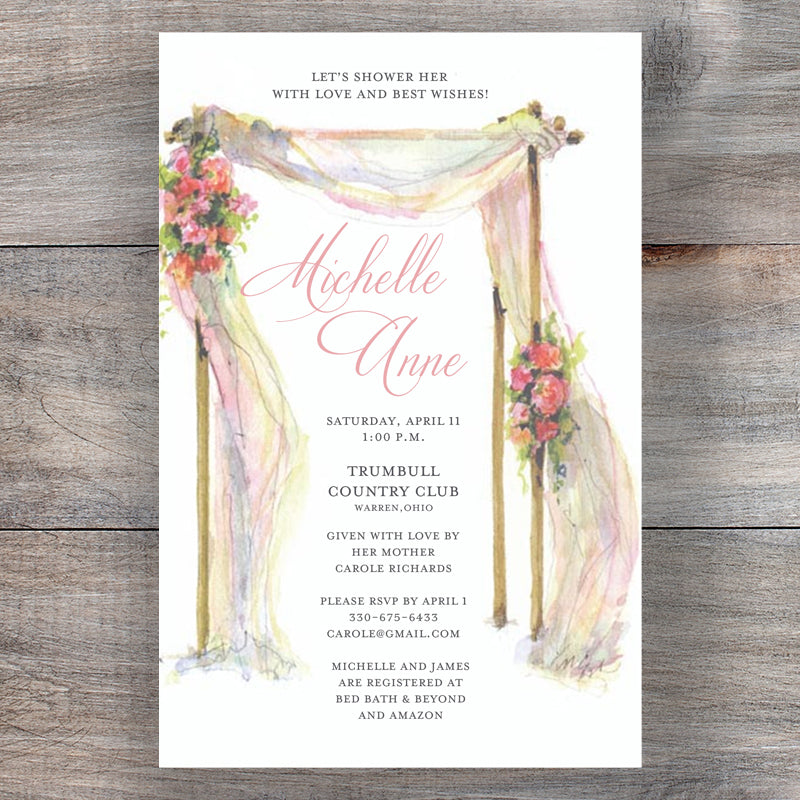 Awaiting Vows Rehearsal Dinner Invitations Main