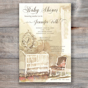 baby's room neutral baby shower invitation