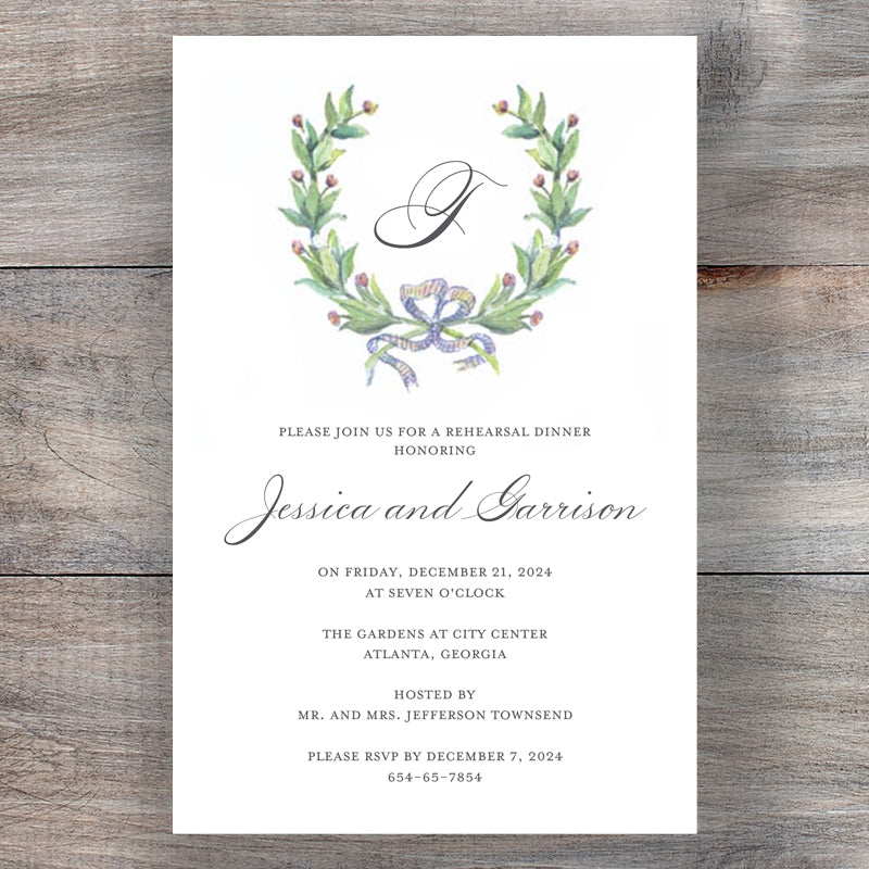 Bay Garland Wedding Event Invitations Main