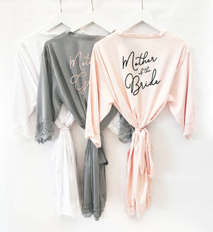 Bridal Party Satin Lace Robe Gift for Mother of the Bride and Mother of the Groom