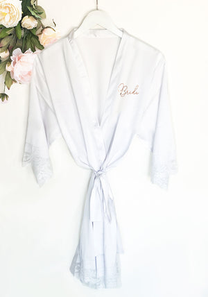 Bridal Party Satin Lace Robe Bride to Be Gift