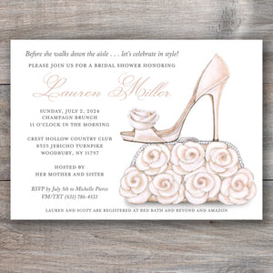 Bride Shoe Purse Bridal Shower Invitations
