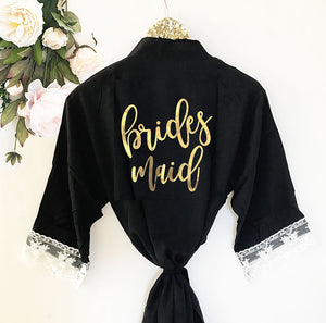 Bridal Party Cotton Lace Robe