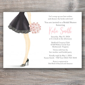 Bride to Be Bouquet Bridal Shower Invitations
