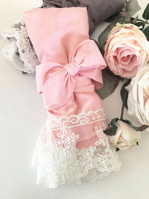 Cotton Lace Robes Pink