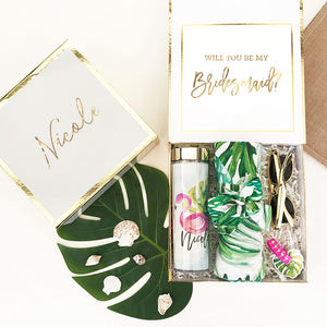 Monogram Palm Leaf Cotton Robes Gift Box