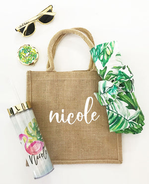 Palm Leaf Tropical Theme Bridal Party Gifts