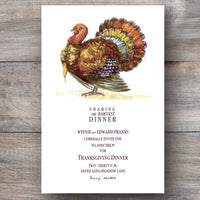 Gobbler Thanksgiving Dinner Party Invitations