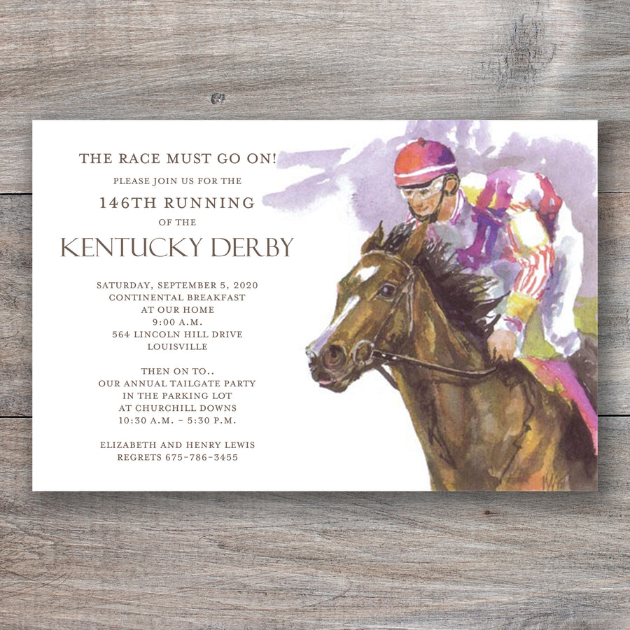Got Giddy Up Kentucky Derby Party Invitations