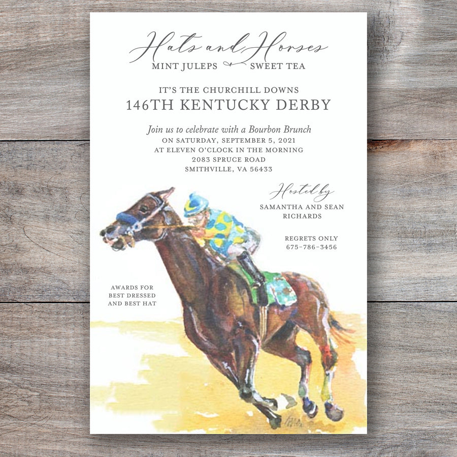 Heading Our Way Kentucky Derby Invitations