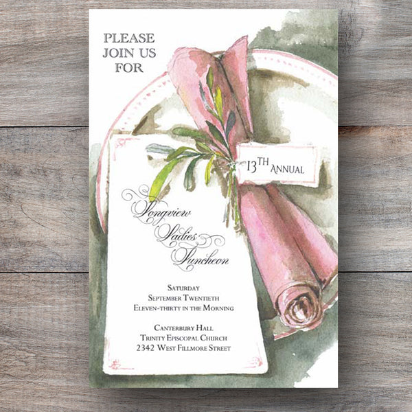 Ladies Lunch Luncheon Dinner Invitations Celebration Bliss