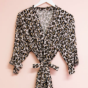 Leopard Bridal Party Robe