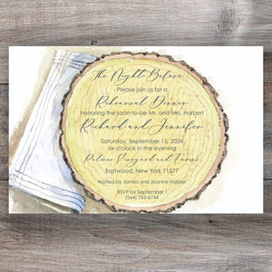 Lumberjack Rustic Rehearsal Dinner Invitations