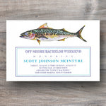 fishing invitation with mackerel fish
