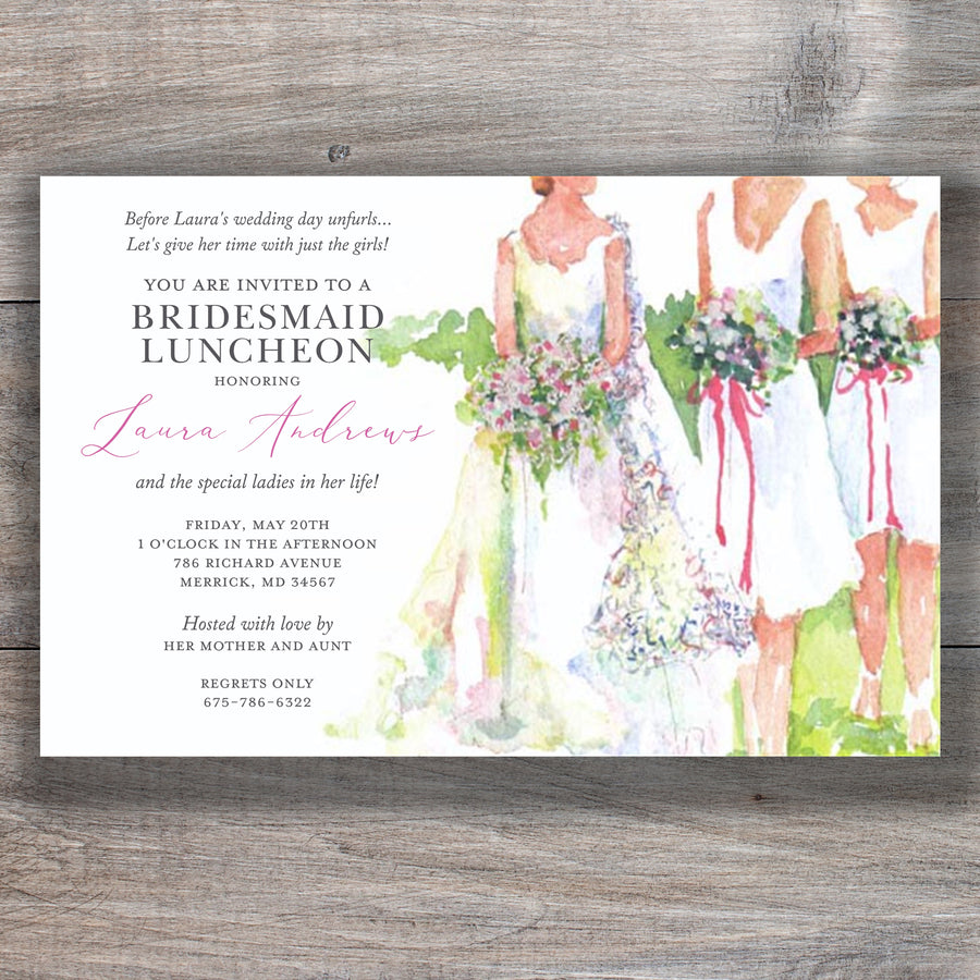 Moments Till Mrs. Bridesmaid Luncheon Invitations