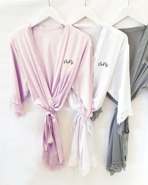 Mrs. Satin Robe Bridal Gift Color Options