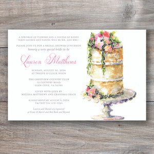 No Need for Icing Bridal Shower Invitations