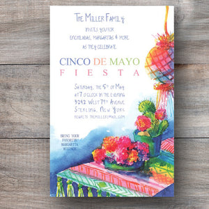 No Siesta Tonight Mexican Fiesta Cinco de Mayo Invitations