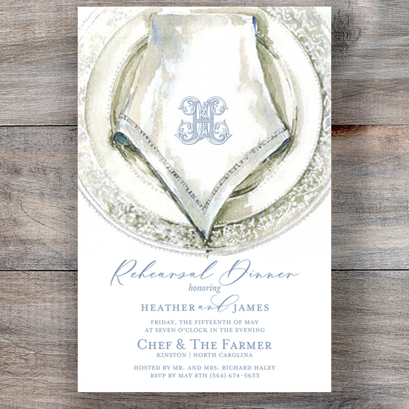 Porcelain Rehearsal Dinner Invitations