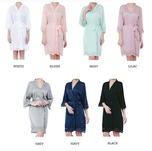 Color Chart for Bridal Party Gifts Robes