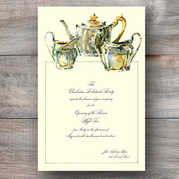 Bridal Tea Invitations Celebration Bliss
