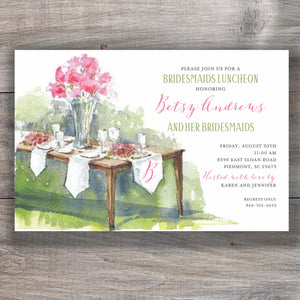 Table Awaiting Bridesmaid Luncheon Invitations 2