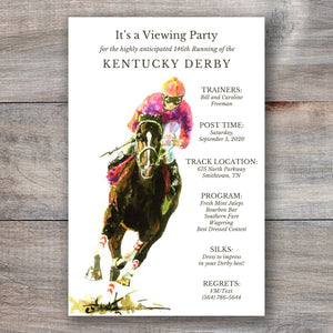 Turnin It On Kentucky Derby Invitations