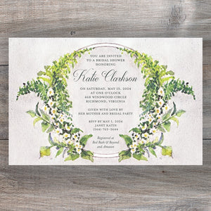 Woodland Garland Wedding Event Invitations