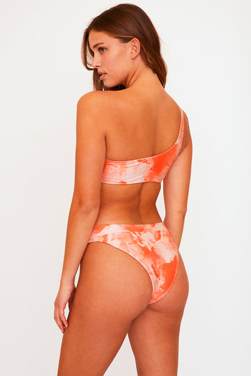 Bondi Reversible Bottom (Red Orange Tie Dye)