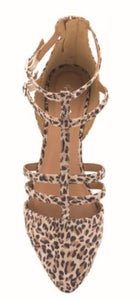Leopard Strappy Flats
